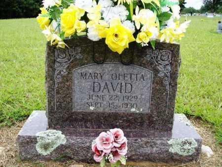 DAVID, MARY OLETTA - Benton County, Arkansas   MARY OLETTA DAVID - Arkansas Gravestone Photos