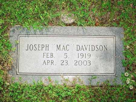 "DAVIDSON, JOSEPH ""MAC"" - Benton County, Arkansas | JOSEPH ""MAC"" DAVIDSON - Arkansas Gravestone Photos"