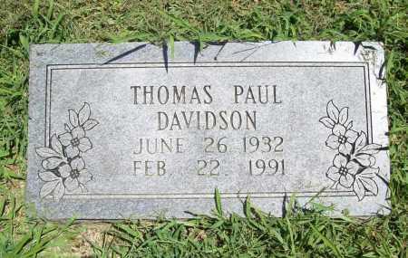 DAVIDSON, THOMAS PAUL - Benton County, Arkansas | THOMAS PAUL DAVIDSON - Arkansas Gravestone Photos