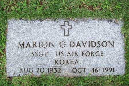 DAVIDSON (VETERAN KOR), MARION C. - Benton County, Arkansas | MARION C. DAVIDSON (VETERAN KOR) - Arkansas Gravestone Photos