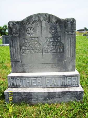 DAVIS, ELIZA - Benton County, Arkansas | ELIZA DAVIS - Arkansas Gravestone Photos