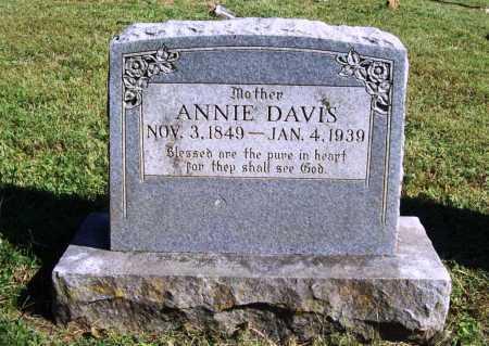 DAVIS, ANNIE - Benton County, Arkansas | ANNIE DAVIS - Arkansas Gravestone Photos