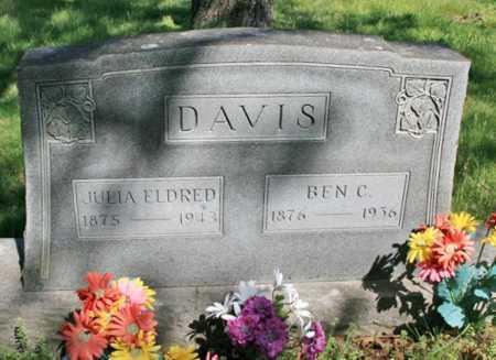 ELDRED DAVIS, JULIA - Benton County, Arkansas | JULIA ELDRED DAVIS - Arkansas Gravestone Photos