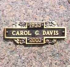 DAVIS, CAROL G. - Benton County, Arkansas   CAROL G. DAVIS - Arkansas Gravestone Photos