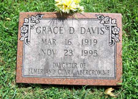 DAVIS, GRACE D. - Benton County, Arkansas | GRACE D. DAVIS - Arkansas Gravestone Photos