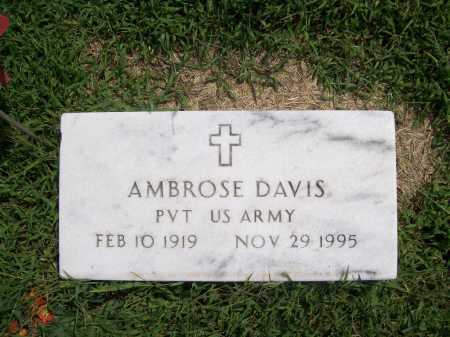 DAVIS (VETERAN), AMBROSE - Benton County, Arkansas | AMBROSE DAVIS (VETERAN) - Arkansas Gravestone Photos