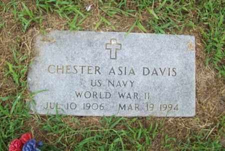 DAVIS (VETERAN WWII), CHESTER ASIA - Benton County, Arkansas | CHESTER ASIA DAVIS (VETERAN WWII) - Arkansas Gravestone Photos