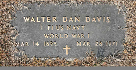 DAVIS (VETERAN WWI), WALTER DAN - Benton County, Arkansas | WALTER DAN DAVIS (VETERAN WWI) - Arkansas Gravestone Photos