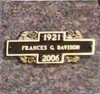 DAVISON, FRANCES G. - Benton County, Arkansas | FRANCES G. DAVISON - Arkansas Gravestone Photos