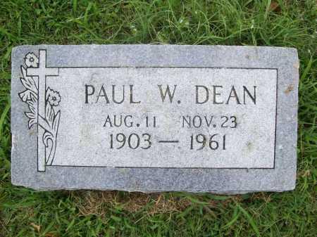 DEAN, PAUL W. - Benton County, Arkansas | PAUL W. DEAN - Arkansas Gravestone Photos