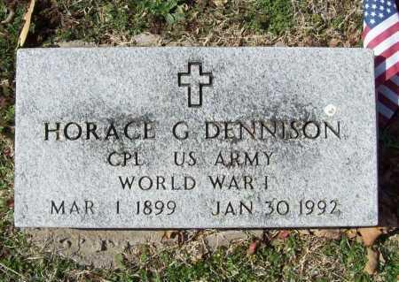 DENNISON (VETERAN WWI), HORACE G - Benton County, Arkansas   HORACE G DENNISON (VETERAN WWI) - Arkansas Gravestone Photos