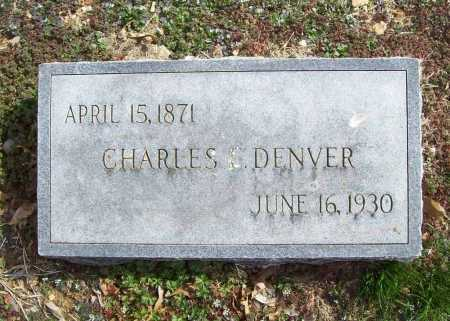 DENVER, CHARLES E. - Benton County, Arkansas | CHARLES E. DENVER - Arkansas Gravestone Photos