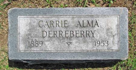 DERREBERRY, CARRIE ALMA - Benton County, Arkansas | CARRIE ALMA DERREBERRY - Arkansas Gravestone Photos