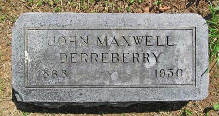 DERREBERRY, JOHN MAXWELL - Benton County, Arkansas | JOHN MAXWELL DERREBERRY - Arkansas Gravestone Photos