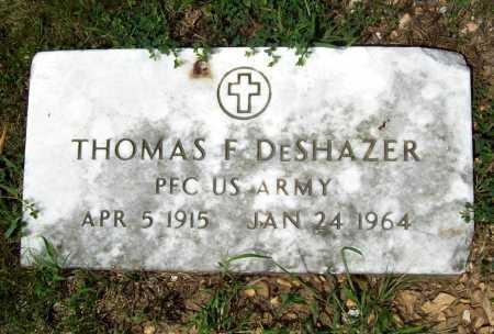 DESHAZER (VETERAN), THOMAS FRANKLIN - Benton County, Arkansas   THOMAS FRANKLIN DESHAZER (VETERAN) - Arkansas Gravestone Photos