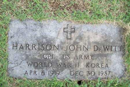 DEWITT (VETERAN 2 WARS), HARRISON JOHN - Benton County, Arkansas   HARRISON JOHN DEWITT (VETERAN 2 WARS) - Arkansas Gravestone Photos