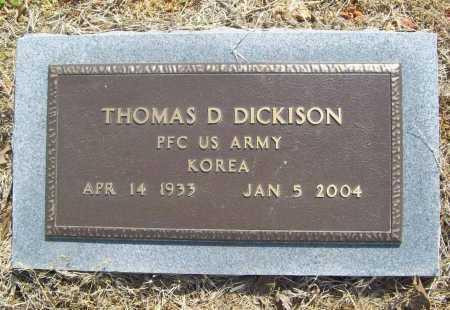 DICKISON (VETERAN KOR), THOMAS DARRELL - Benton County, Arkansas | THOMAS DARRELL DICKISON (VETERAN KOR) - Arkansas Gravestone Photos