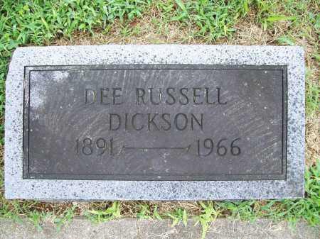 DICKSON, DEE RUSSELL - Benton County, Arkansas   DEE RUSSELL DICKSON - Arkansas Gravestone Photos