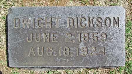 DICKSON, DWIGHT - Benton County, Arkansas   DWIGHT DICKSON - Arkansas Gravestone Photos