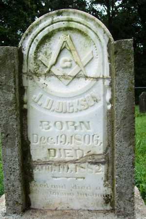 DICKSON, J. D. - Benton County, Arkansas   J. D. DICKSON - Arkansas Gravestone Photos