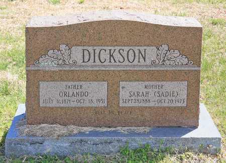 "DICKSON, SARAH ""SADIE"" - Benton County, Arkansas | SARAH ""SADIE"" DICKSON - Arkansas Gravestone Photos"