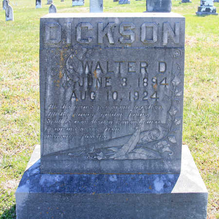 DICKSON, WALTER D - Benton County, Arkansas | WALTER D DICKSON - Arkansas Gravestone Photos