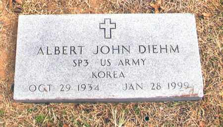 DIEHM (VETERAN KOR), ALBERT JOHN - Benton County, Arkansas   ALBERT JOHN DIEHM (VETERAN KOR) - Arkansas Gravestone Photos