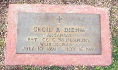 DIEHM (VETERAN WWI), CECIL RAY - Benton County, Arkansas | CECIL RAY DIEHM (VETERAN WWI) - Arkansas Gravestone Photos