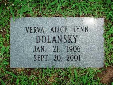 LYNN DOLANSKY, VERVA ALICE - Benton County, Arkansas   VERVA ALICE LYNN DOLANSKY - Arkansas Gravestone Photos