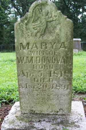 DONOVAN, MARY A. - Benton County, Arkansas   MARY A. DONOVAN - Arkansas Gravestone Photos