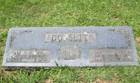 DORSETT, JAMES FRANK - Benton County, Arkansas | JAMES FRANK DORSETT - Arkansas Gravestone Photos