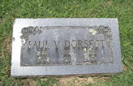 DORSETT, PAUL V. - Benton County, Arkansas | PAUL V. DORSETT - Arkansas Gravestone Photos