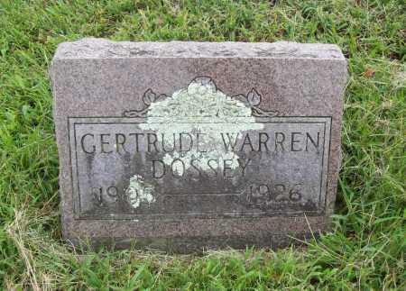 WARREN DOSSEY, GERTRUDE - Benton County, Arkansas | GERTRUDE WARREN DOSSEY - Arkansas Gravestone Photos