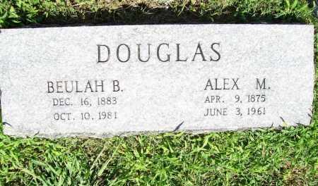 DOUGLAS, ALEX M. - Benton County, Arkansas | ALEX M. DOUGLAS - Arkansas Gravestone Photos