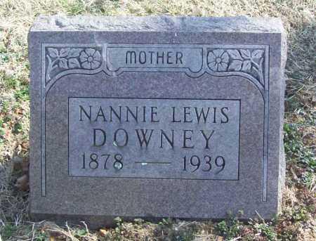 DOWNEY, NANNIE - Benton County, Arkansas   NANNIE DOWNEY - Arkansas Gravestone Photos