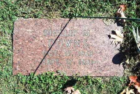 DOWNS, PHILLIP M. - Benton County, Arkansas   PHILLIP M. DOWNS - Arkansas Gravestone Photos