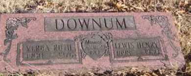 DOWNUM, LEWIS HENRY - Benton County, Arkansas | LEWIS HENRY DOWNUM - Arkansas Gravestone Photos