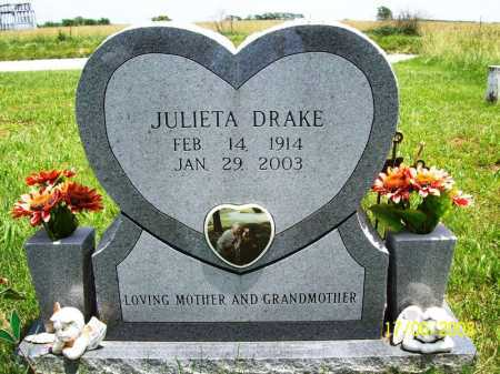 DRAKE, JULIETA - Benton County, Arkansas | JULIETA DRAKE - Arkansas Gravestone Photos