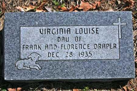 DRAPER, VIRGINIA LOUISE - Benton County, Arkansas | VIRGINIA LOUISE DRAPER - Arkansas Gravestone Photos