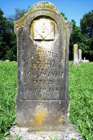 DUDLEY, J. A. - Benton County, Arkansas | J. A. DUDLEY - Arkansas Gravestone Photos