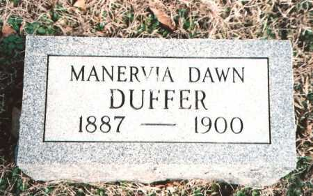 DUFFER, MANERVIA DAWN - Benton County, Arkansas   MANERVIA DAWN DUFFER - Arkansas Gravestone Photos