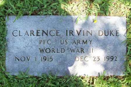 DUKE (VETERAN WWII), CLARENCE IRVIN - Benton County, Arkansas | CLARENCE IRVIN DUKE (VETERAN WWII) - Arkansas Gravestone Photos