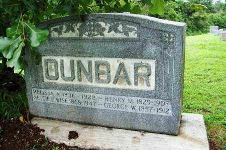 DUNBAR, GEORGE W. - Benton County, Arkansas | GEORGE W. DUNBAR - Arkansas Gravestone Photos