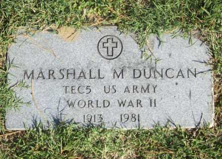 DUNCAN (VETERAN WWII), MARSHALL M - Benton County, Arkansas | MARSHALL M DUNCAN (VETERAN WWII) - Arkansas Gravestone Photos