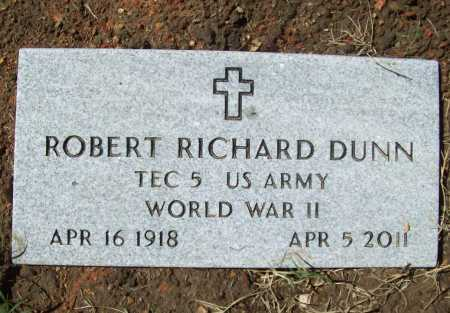 DUNN (VETERAN WWII), ROBERT RICHARD - Benton County, Arkansas | ROBERT RICHARD DUNN (VETERAN WWII) - Arkansas Gravestone Photos