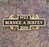 DURFEY, BERNICE ALMA - Benton County, Arkansas   BERNICE ALMA DURFEY - Arkansas Gravestone Photos