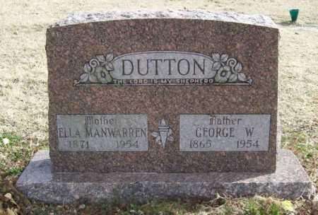 DUTTON, ELLA - Benton County, Arkansas | ELLA DUTTON - Arkansas Gravestone Photos