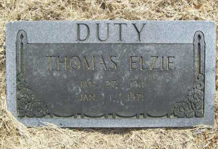 DUTY, THOMAS ELZIE - Benton County, Arkansas | THOMAS ELZIE DUTY - Arkansas Gravestone Photos
