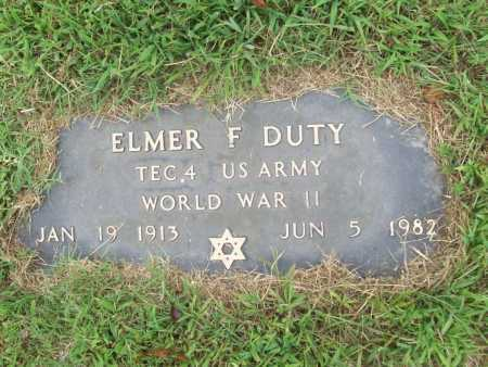DUTY (VETERAN WWII), ELMER F. - Benton County, Arkansas   ELMER F. DUTY (VETERAN WWII) - Arkansas Gravestone Photos