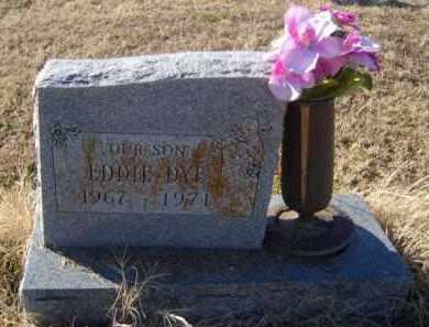 DYE, EDDIE - Benton County, Arkansas | EDDIE DYE - Arkansas Gravestone Photos